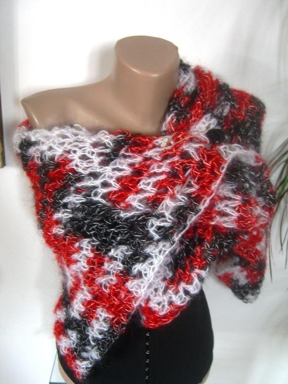 châle rectangulaire en laine  mohair
