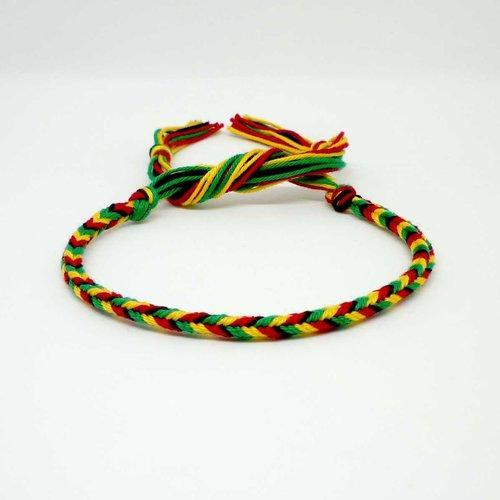 bracelet bresilien vert jaune rouge