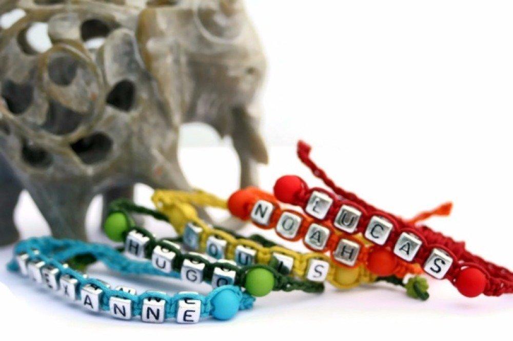 Bracelet prénom personnalisable ajustable
