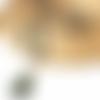 Sautoir boheme - collier long perle bois beige noir