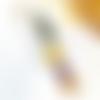 Peigne resine et fleurs sechees jaune et violet