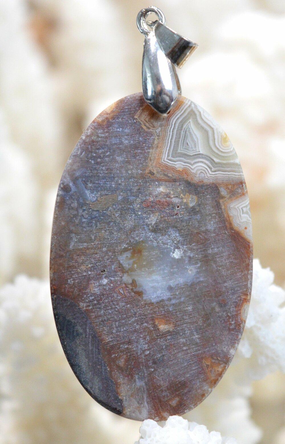 pendentif cabochon pierre naturelle Agate 56 carats Mexique  Ref BC43