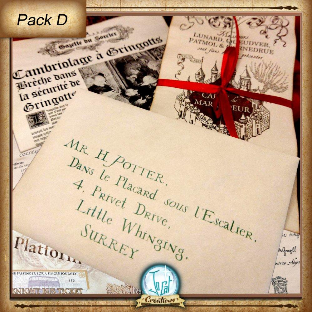 Lettre d'acceptation à Poudlard en français ou en anglais, personnalisée inspirée d'Harry Potter