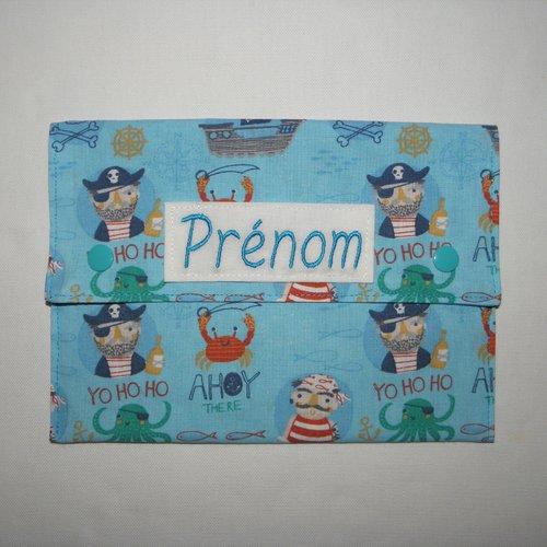 Pochette Serviette De Table Enfant Avec Prenom Brode Pirates Un