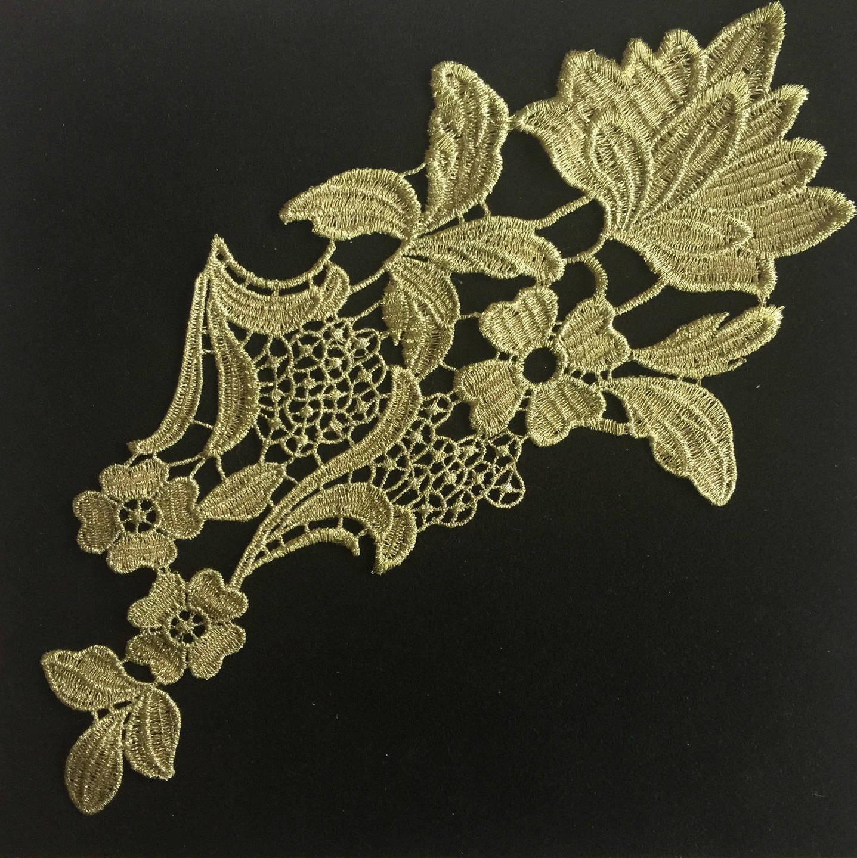 Appliqué, appliqué dentelle, lace appliqué, Joce150652creaconcep, appliqué doré, appliqué dentelle, appliqué satin, appliqué fleur,