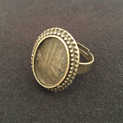 Bague, support bague, bague bronze, bague réglable, bague cabochon, base ring, cabochon ring, joce150652creaconcep, cabochon ovale 18x13 mm