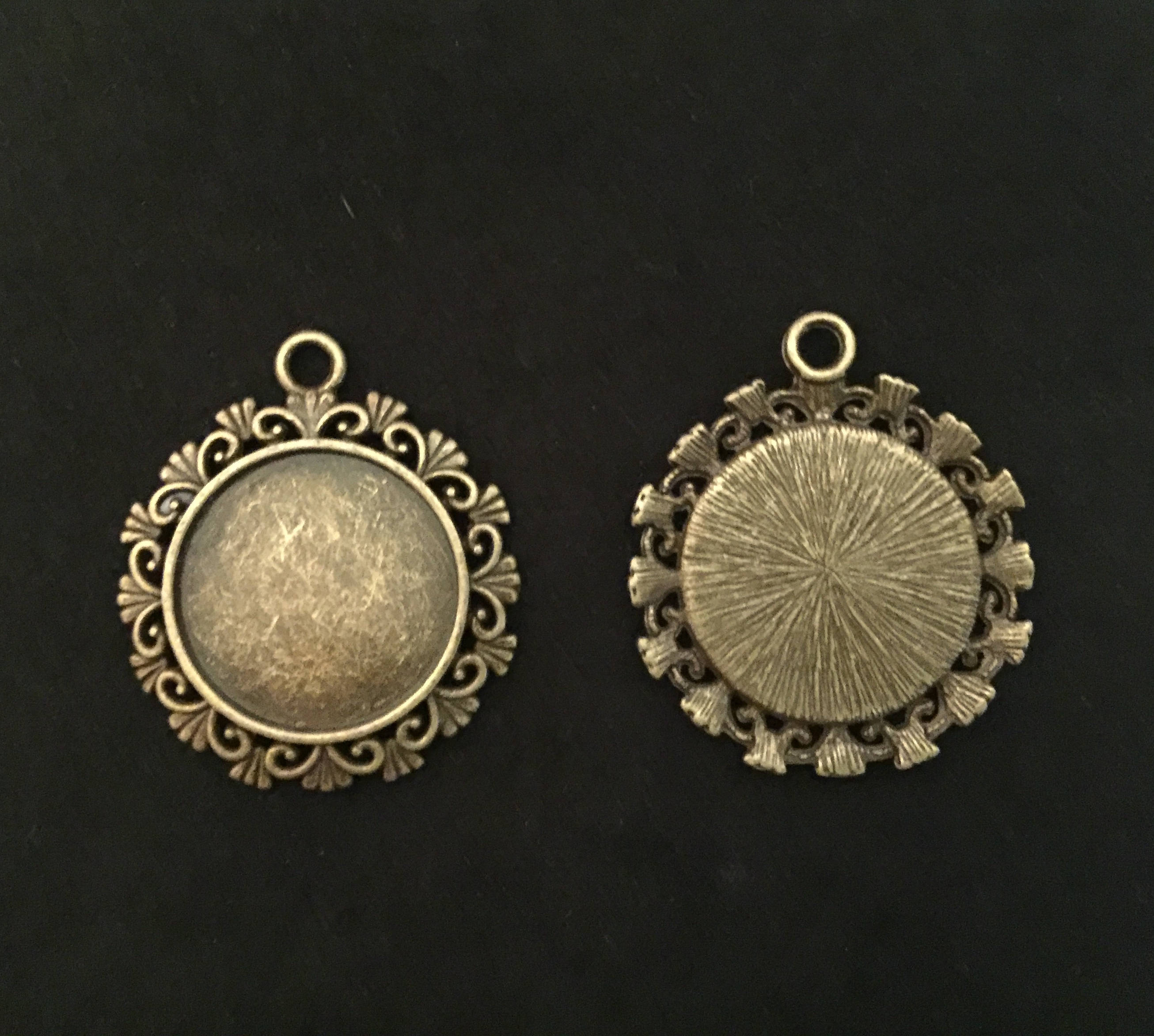 Pendentif, support pendentif,pendentif cabochon, cabochon pendant, support pendant, Joce150652creaconcep, cabochon 20 mm, support bronze