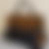 Sac à main wax écailles jaune - akawaba - porté main ou en bandoulière
