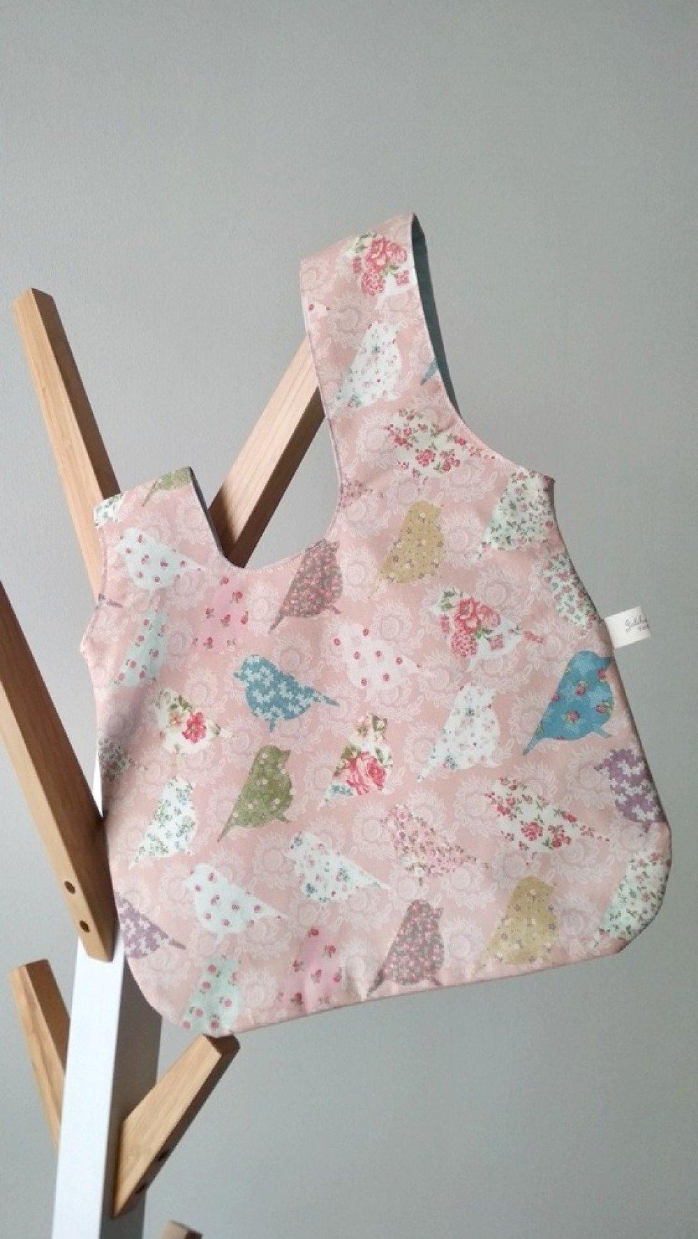 SAC POCHETTE 'One-Knot bag' - Oiseaux roses