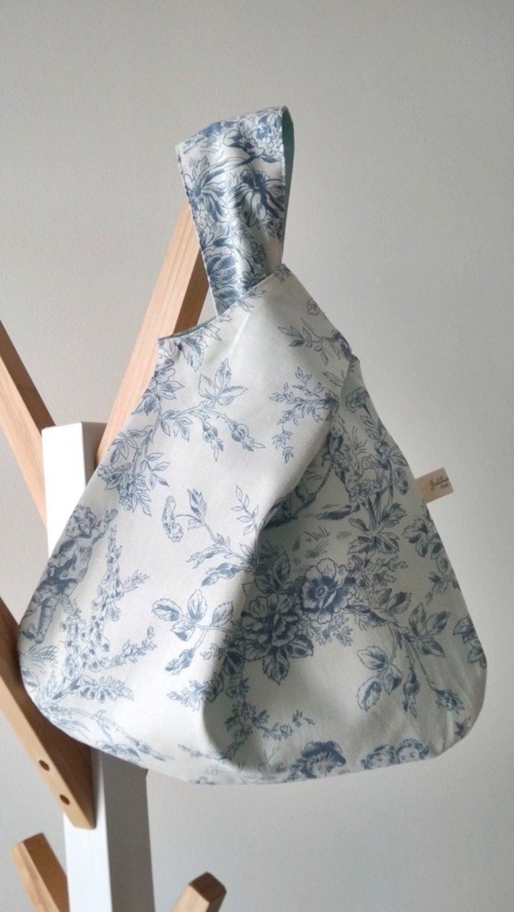 SAC POCHETTE 'One-Knot bag' - Toile de jouy