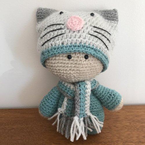 CROCHET - BIG HEAD DOLL - BABYDOLL YO-YO - Lilleliis small cat ...   500x500