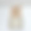 Lustre bois flotté lin - abat jour cylindre 40 cm - suspension cylindrique - plafonnier rond