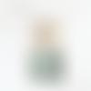Lustre bois flotté abat jour exotique motif perroquet aras 40cm