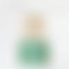 Lustre bois flotté motif plumes de paon 40 cm