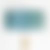 Abat jour motif art déco bleu et argenté cylindrique fait main - idée cadeau noël anniversaire