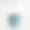 Lustre double abat jour motif feuilles bleues