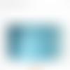 Abat jour art déco bleu turquoise