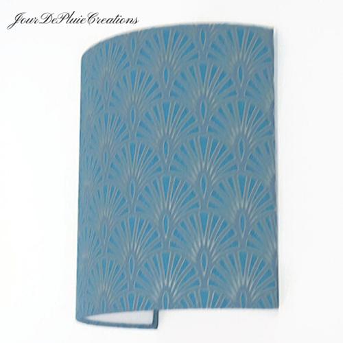 Applique murale motif géométrique art déco bleu turquoise