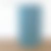 Lampe tube motif art déco géométrique bleu turquoise - lampe chevet ou d'appoint - idée cadeau anniversaire noël