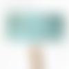 Abat jour turquoise motifs hawaï surf combi palmier 40 cm