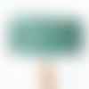 Abat jour tissu aborigène vert motifs tortues marines ø 40 cm - cylindrique idée cadeau noël anniversaire