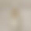 Lustre bois flotté lin abat jour cylindre 30 cm