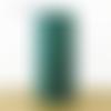 Lampe tube art déco éventails vert et or