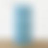 Lampe tube mini plumes de paon bleu