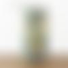 Lampe tube motif feuilles palmier vertes tropical  ø 12 cm