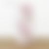 Lampe tube baby girl motifs rose et gris animaux  ø 15 cm