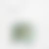 Suspension abat jour motif feuilles exotiques vertes et turquoises 45 cm