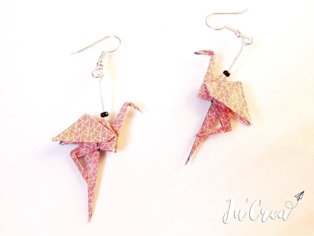 boucle d'oreille flamand rose