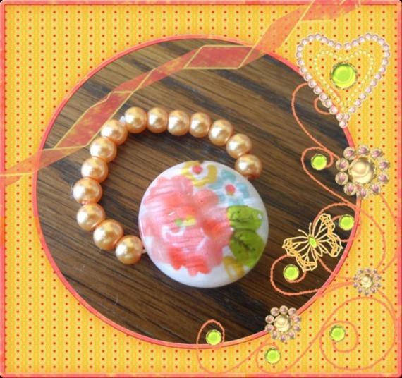 Bague perles élastique