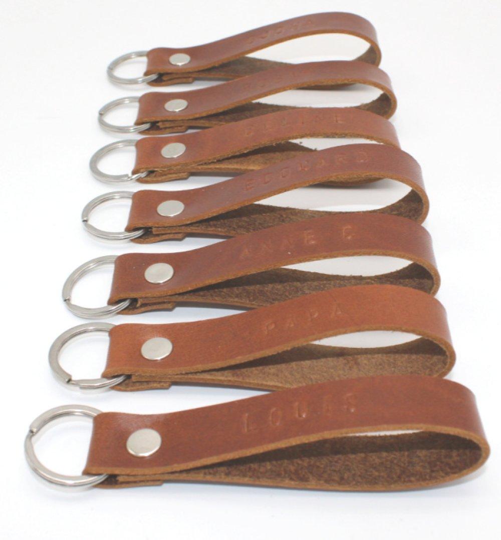 Porte Clé cuir Personnalisé, dans 10 coloris aux choix