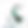 Collier géométrique vert 20mm