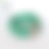 Collier géométrique vert 30mm