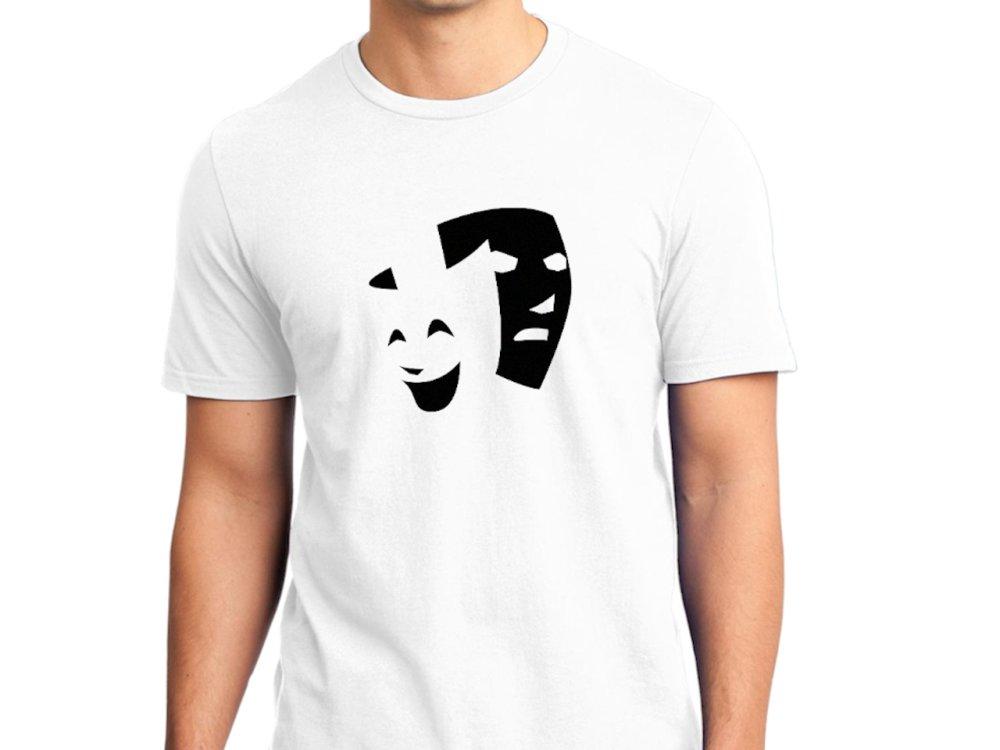 Masques de Venise T-shirt Homme Manches Courtes - Taille L