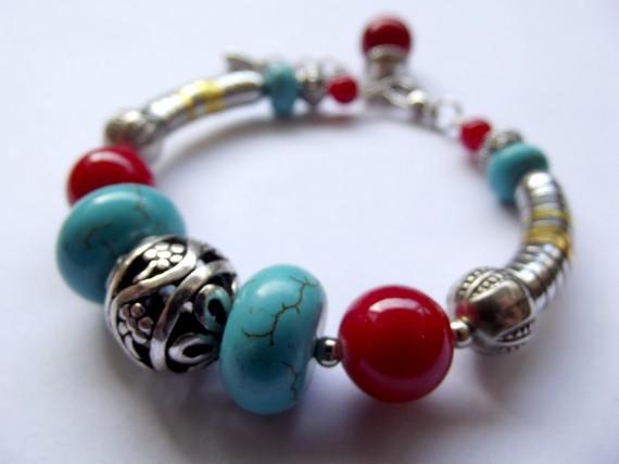 Bracelet aux couleurs de Bali métal bleu