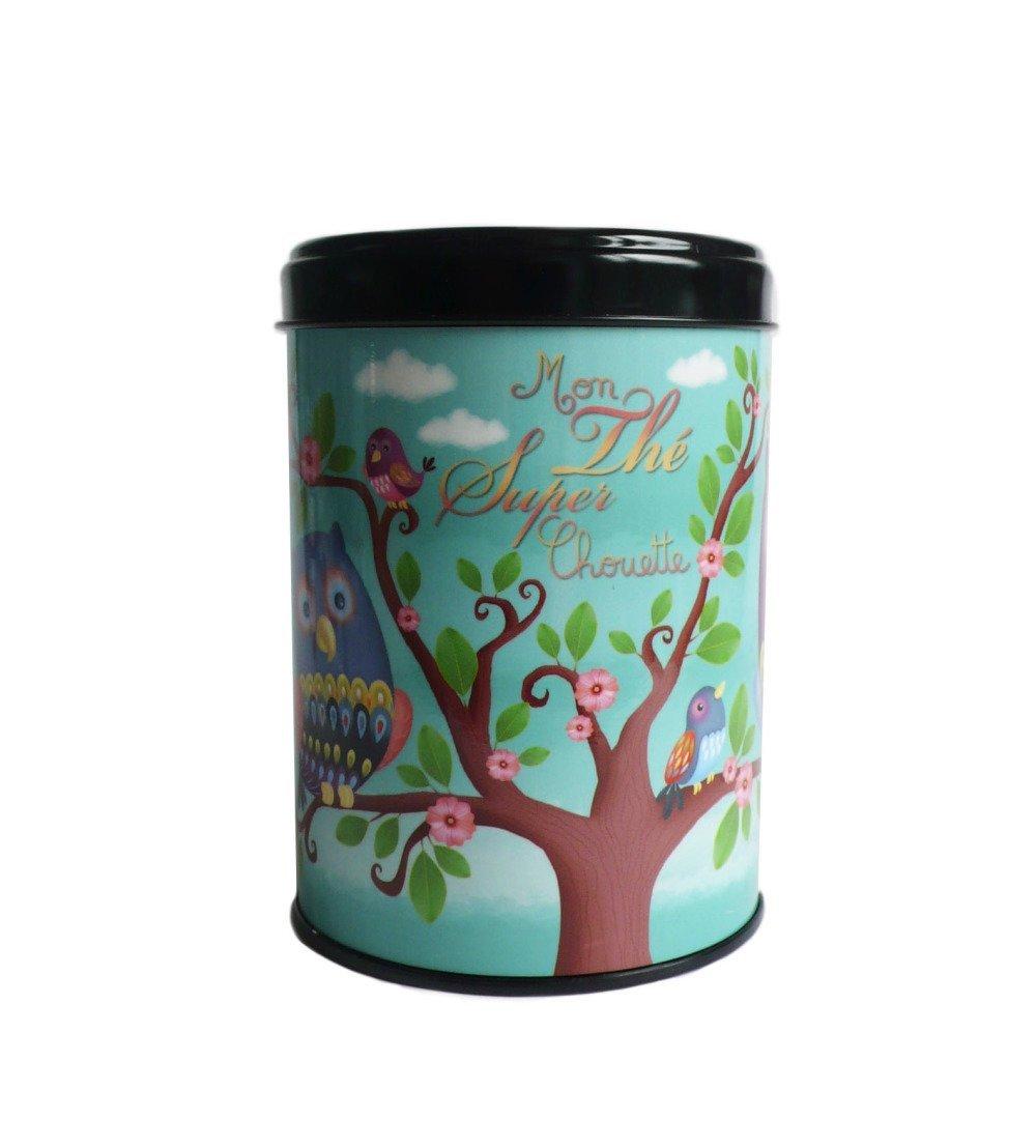 """Boite """"mon thé super chouette"""", cadeau déco amateur de thé, rangement  cuisine"""