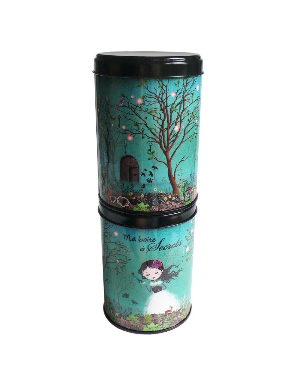 """Boite à thé """"mes petits secrets"""", cadeau déco amateur de thé, rangement  boite cuisine"""