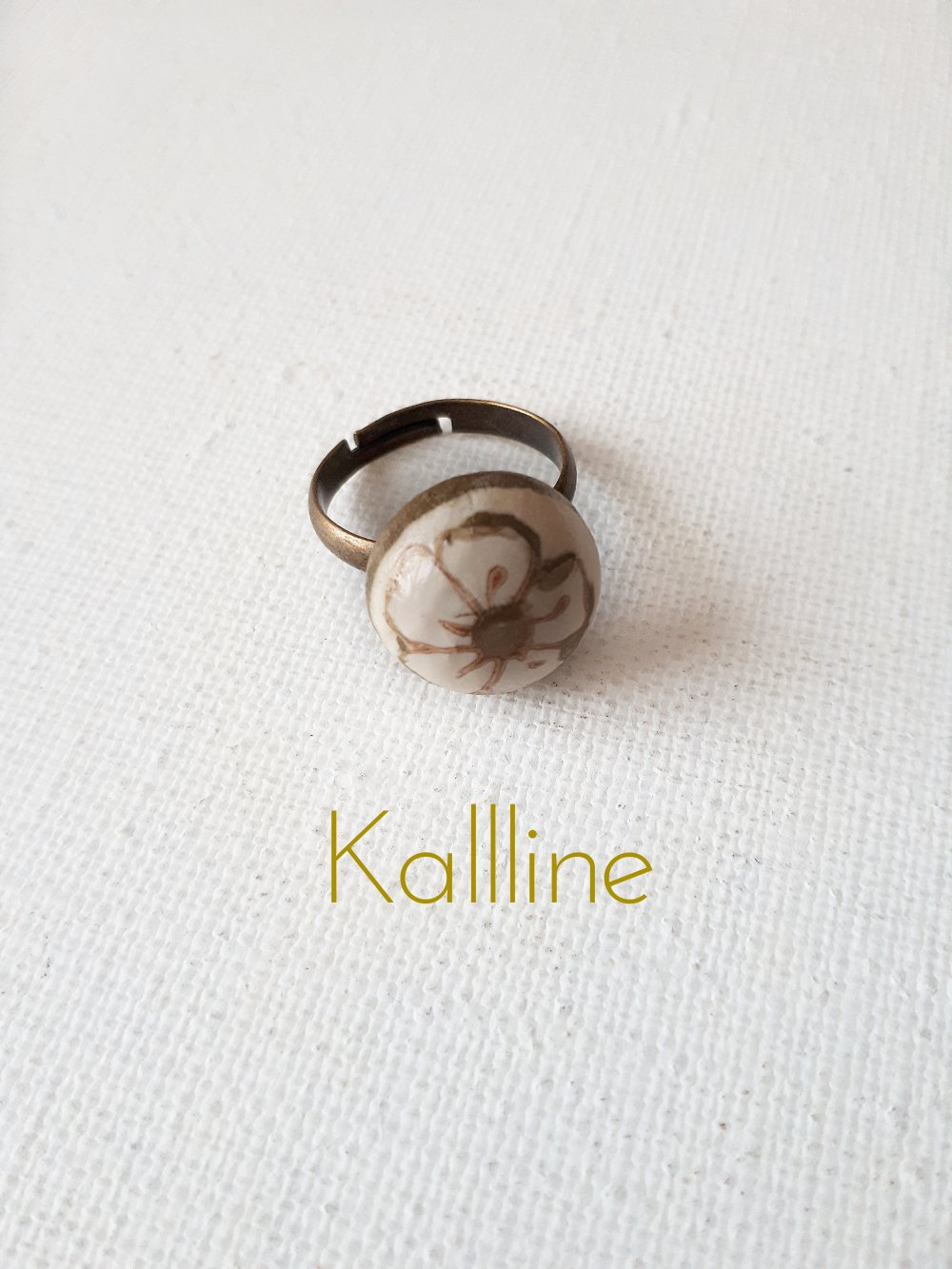 Bague Fleur artisanale Kallline