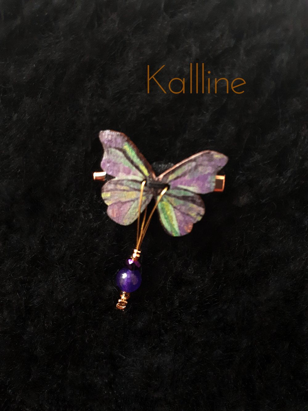 Broche fantaisie Papillon Violet
