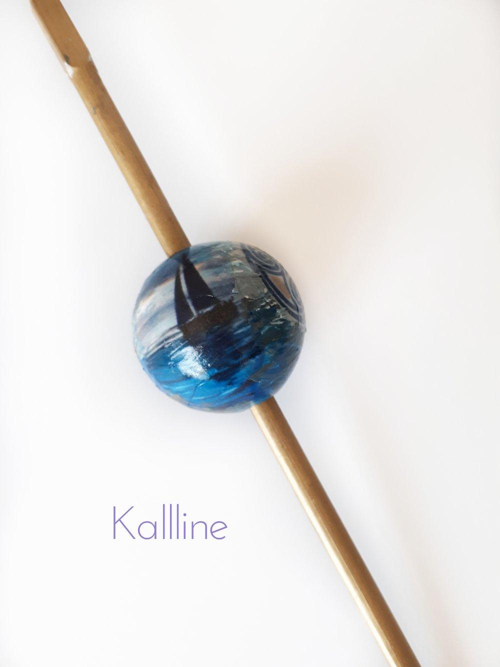 Perles artisanales sur bois Kallline  bateaux