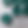 Bouton rond vert nacre (lot de 8)
