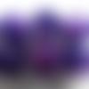 Bouton violet rond a queue