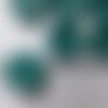 Bouton rond vert nacre (lot de 6)