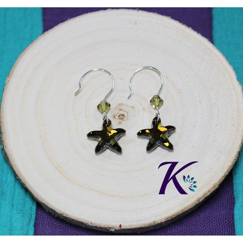 KB_bo_48 -  Boucles d'oreilles Starfish Swarovski Element