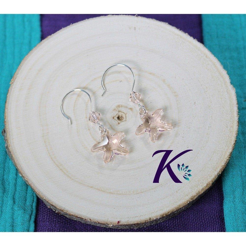 KB_bo_54 -  Boucles d'oreilles Starfish Swarovski Element