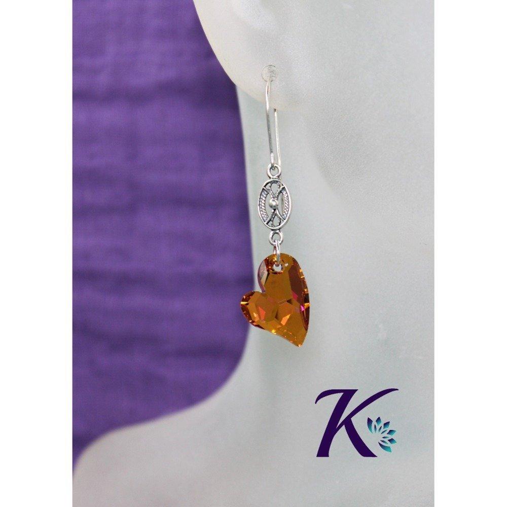 KB_bo_58 -  Boucles d'oreilles Coeur Devoted 2 U Swarovski Element