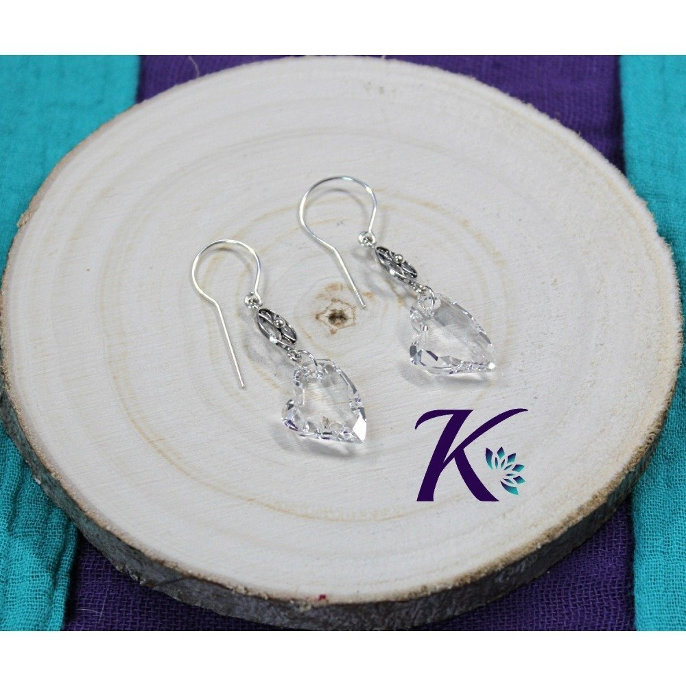 KB_bo_59 -  Boucles d'oreilles Coeur Devoted 2 U Swarovski Element